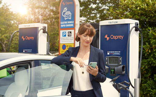 The partnership gives Paua's customers access to Osprey's 250+ EV chargers. Image: Osprey