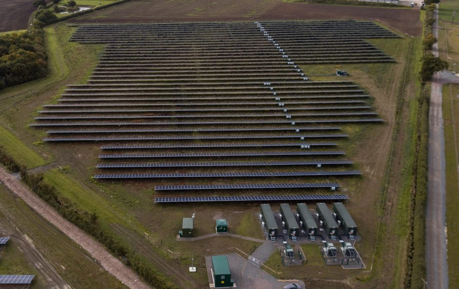 Clay Hill solar farm. Image: Anesco.