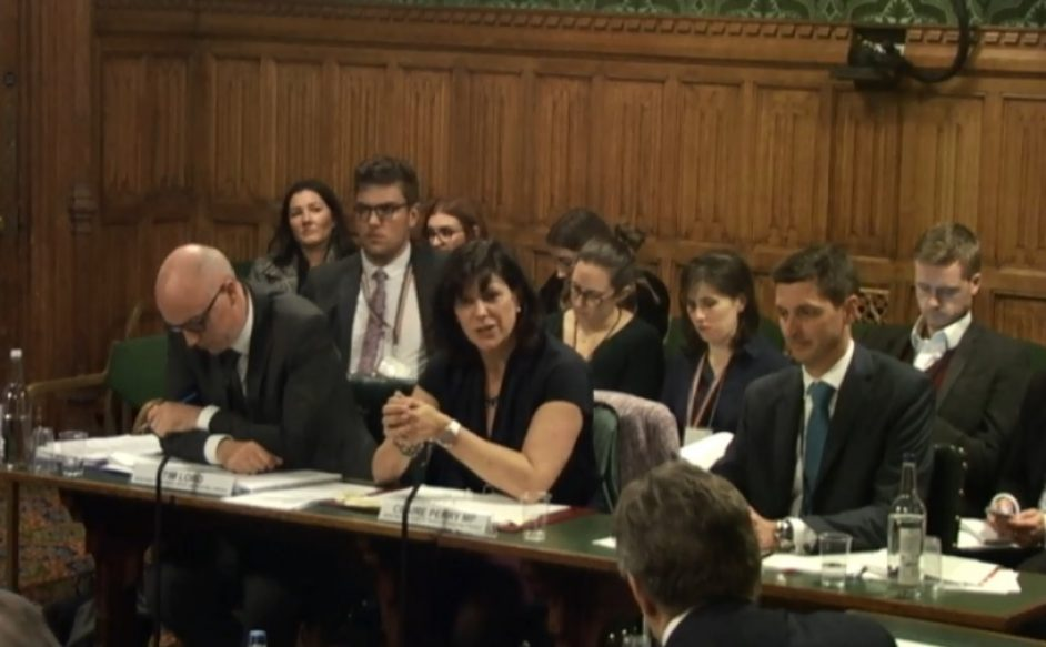 Claire Perry appeared before the BEIS select committee yesterday.