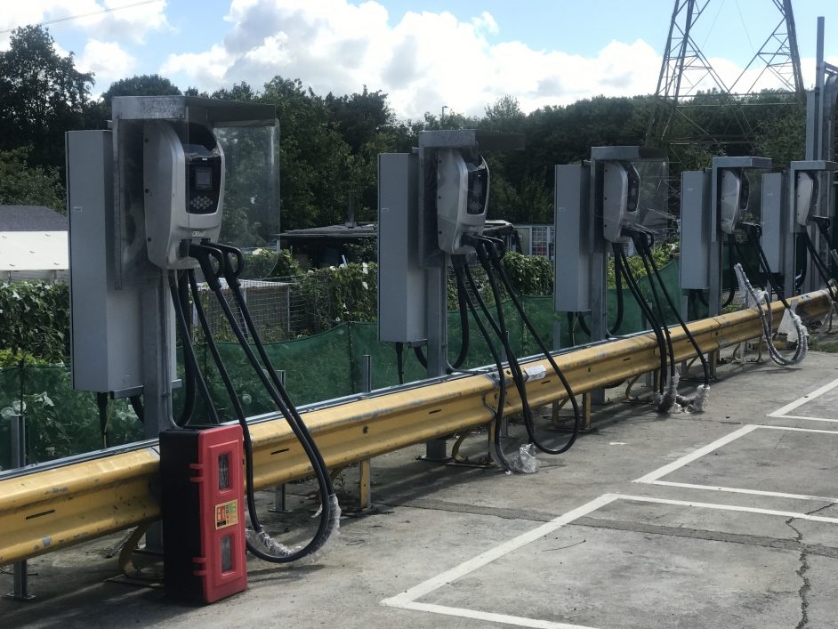 Charge points installed at Northumberland Park. Image: SSE Enterprises.