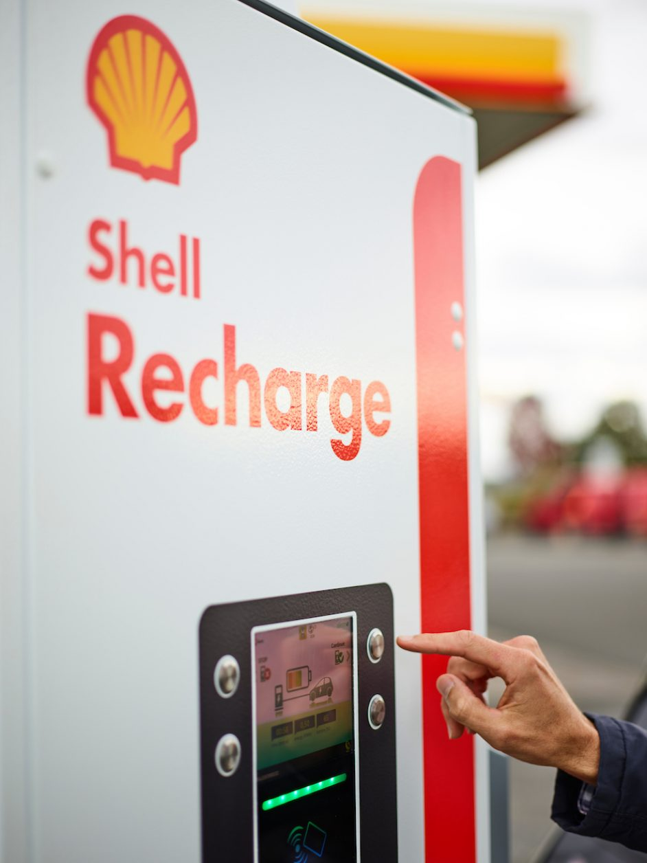 Shell is also repositioning to place electric vehicle charging amongst its core business activities in the UK. Image: Shell.
