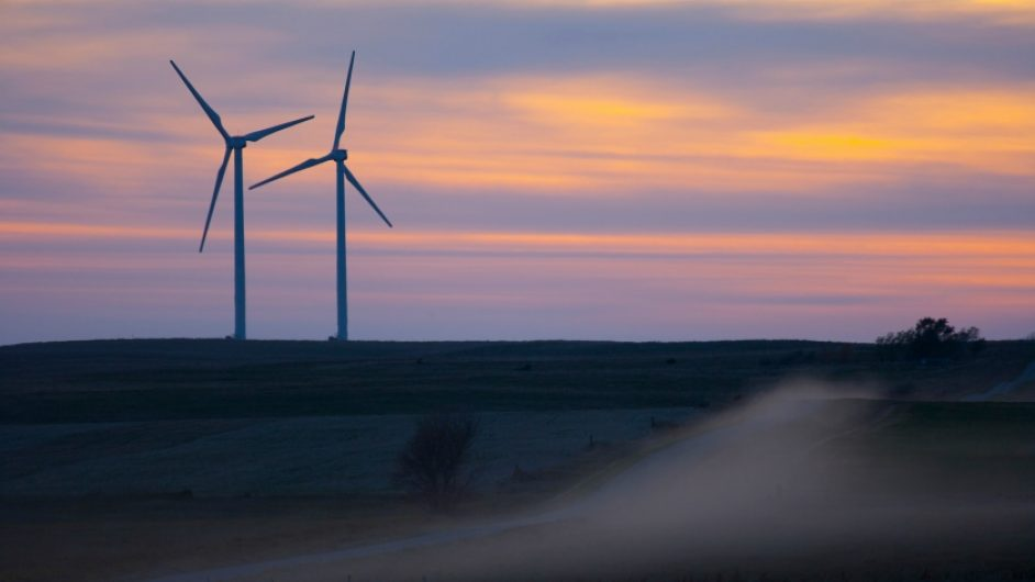 The Titan 1 Wind Farm in South Dakota, US, where BP is experimenting with a battery supplied by Tesla.