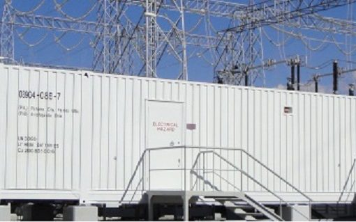 An example of a utility-scale battery storage facility.