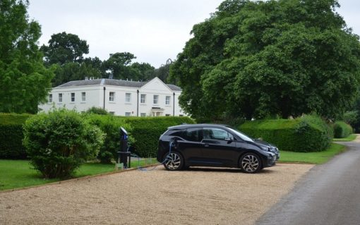 The Chargemaster Fastcharge unit has been installed within walking distance of the historic Wavendon House. Image: Chargemaster.